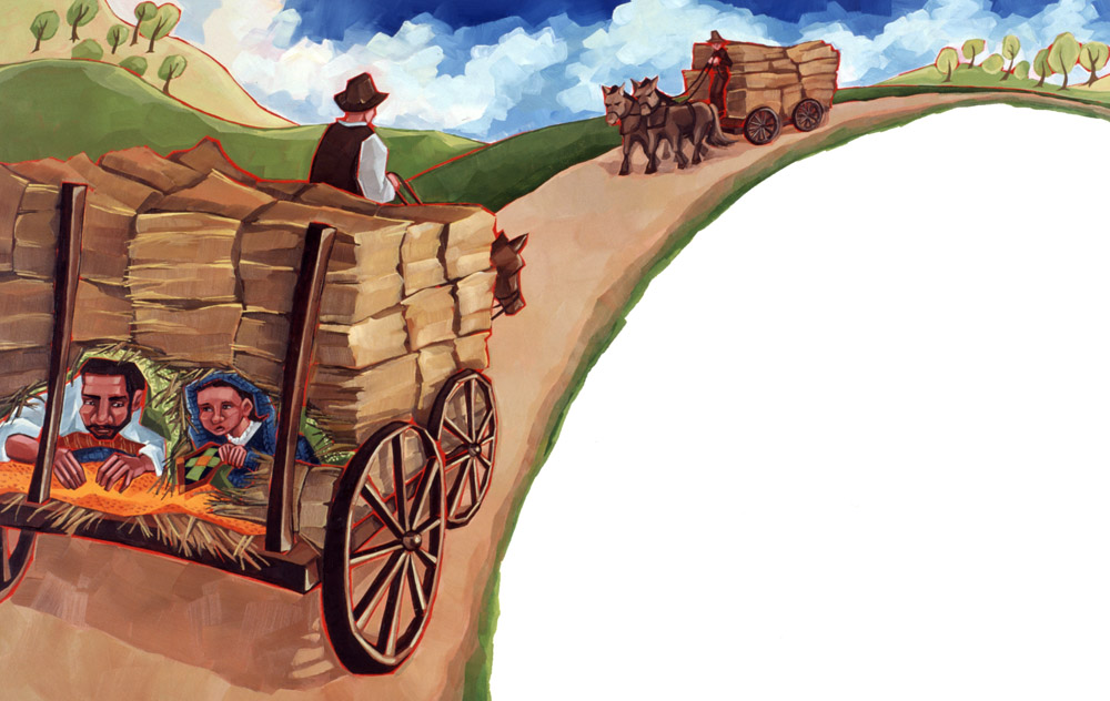 Patchwork Path (hay wagon)