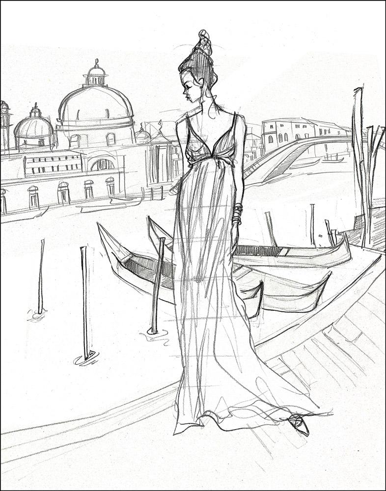 Venice Lady (sketch)